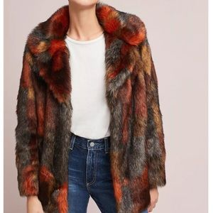 Anthropologie Seen Worn Kept faux fur jacket 😍